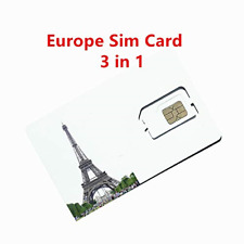 PrePaid Europe UK THREE sim card 12GB data+3000 minutes+3000 texts for 30 days /