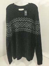 ABERCROMBIE & FITCH MEN'S CREWNECK SWEATER LARGE NWT $78