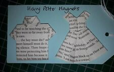 Handmade origami dress & shirt fridge magnets from pages of Harry Potter book
