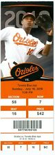 2010 Orioles vs Blue Jays Ticket: Yunel Escobar hit his first career grand slam