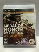 Medal of Honor Warfighter Limited Edition (PlayStation 3 PS3) Complete w/ Manual