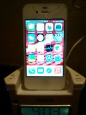 2 set of Apple iPhone 4s,16GB white (Sprint) and IHOME docking, all works, A1349