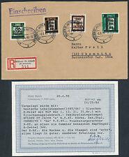 Lokalausgabe Glauchau 15/3 Pf. Parteidienstmarke Einschreiben Befund (S12304)