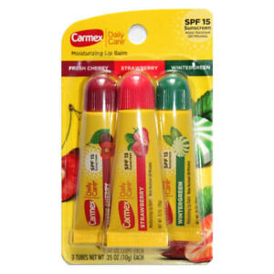 Carmex Moisturizing Lip Balm with SPF15 SqueezeTube 10g x 3pack (3 flavours)