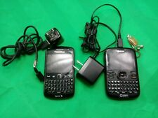 Lot of 2 Blackberry Curve Sprint 9350 Kyocera  Smartphone Black W/ Key pad