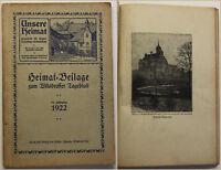 Unsere Heimat Beilage zum Wilsdruffer Tageblatt 1922 Sachsen Geschichte sf