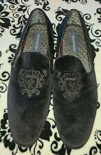 EUC Giorgio Brutini Velvet Black Slip-On Loafers Dress mens size 12 M 176031