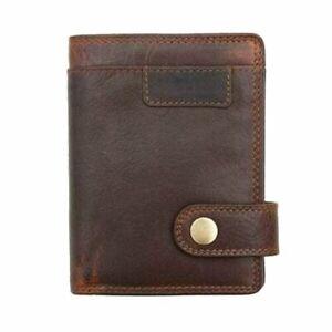 Prime Hide Mens Leather Wallet With RFID New York Brown N/S