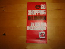 "RARE LEAFLET: ""GO SHOPPING IN LONDON BY BUS AND UNDERGROUND"" PUBLISHED IN 1977"