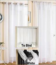 "White Sparkle Voile Tie Blind 140cm 55"" X 137cm 54"""