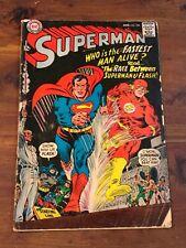 Superman #199 1st Superman Flash race DC Comics 1967 GD/VG