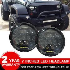 Firebug 2 pcs 7'' Round LED Projector Headlight Lamp DRL for Jeep Wrangler JK
