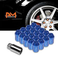 M12X1.5 Blue JDM Closed End Acorn Hex Wheel Lug Nuts+Extension 25mmx35mm 20Pc