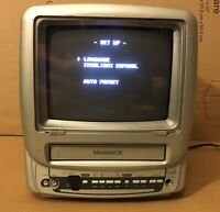 "Magnavox MC09D1MG01 Color 9"" TV/VCR Combo Gaming Tested Works No remote"