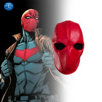MLYX Batman Red Hood Cosplay Mask Hood Jason Todd Leather Red Helmet Halloween