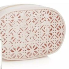 9100a9ce59e NEW TORY BURCH Cosmetic Case Patent Light Pink Lace Makeup Pouch Toiletry  Bag