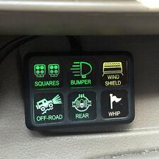 NEU 6-fach Schalttafel LED Schalter Box Set Sicherung Relaiskasten Auto Boot 12V