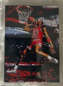 2021 Michael Jordan Limited Edition 21/25 Art Aceo Red Sketch Print Card