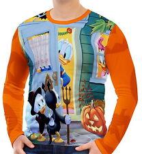 Donald Duck Halloween Herren Langarm T-Shirt Tee wa2 aao30234