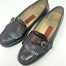 6f408b1b237 Cole Haan City 3516 Mens Casual Loafers 10.5 D Leather Kiltie Moc Burgundy  Shoes