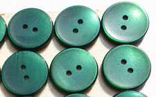 24 Lovely Spring Green Vintage 1.7cm Buttons