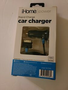iHome Rapid Charge 12-Watt Car Charger 30-Pin Connector New in Box