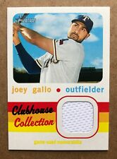 2020 Topps Heritage Clubhouse Collection Relics Joey Gallo #CCRJG