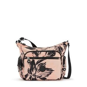 Kipling GABBIE S Shoulder/Across Body Bag CORAL FLOWER Print SS21 RRP £83
