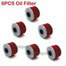 6x Oil Filter For KAWASAKI KSR110 KLX250SF KFX450R BN125 ELIMINATOR FMX650 KL250