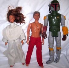 "1979 14"" Boba Fetta Figure,1980 12"" Han Solo Figure and 1980 Lelia Action Figure"