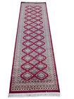 Soft Looking Red hall carpet runners Handmade 2' 8'' x 8' 2'' Bokara Jaldar Rug