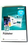 Microsoft Publisher Version 2002 30 Day Trail CD With Product Key - I2015