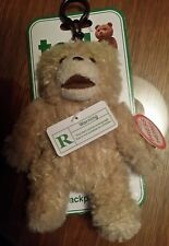 "2012 ""Ted"" Talking Backpack Clip Plush (R-Rated) Teddy Bear"