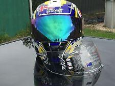 Blue Tinted Iridium Visor suit Syko Patriot Australian Flag Motorbike Helmet