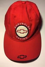 NASCAR Chevrolet GM Chevy Racing Baseball Cap Hat Red Preowned Adjustable OSFA