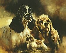 AMERICAN COCKER SPANIEL FINE ART LIMITED EDITION PRINT by the late Mick Cawston