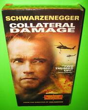 Collateral Damage VHS Arnold Schwarzenegger 2002 Action Suspense Thriller