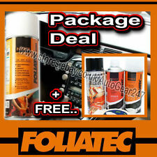 Foliatec Car Interior Dashboard Door Gloss Black Spray Paint,Sealer, Primer +