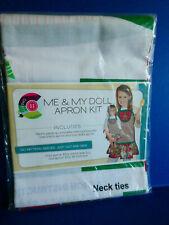 "Brand New Daisy Kingdom Me & My Doll Apron Kit - Fits 18"" Dolls Christmas Design"