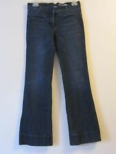 Womens New York & Company Low Rise Flare Jeans Dark Wash Size 2 Inseam 29.5