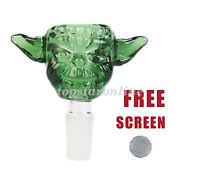 14mm/18mm Male Star Wars Yoda Design Glass Bowl USA Fast Free Shipping