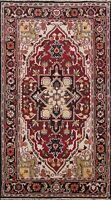 Geometric Indo Heriz Hand-knotted Oriental Area Rug Traditional Wool 5x8 Carpet