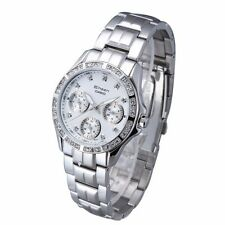 SHN-3013D-7A White Casio Lady Watches Sheen Mineral Glass Date Day Steel Band