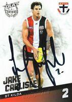 ✺Signed✺ 2017 ST KILDA SAINTS AFL Card JAKE CARLISLE