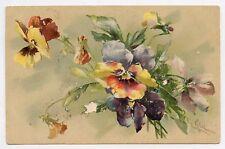 a/s . C KLEIN . Fleurs . LES PENSÉES  . Thought Flowers. pensamiento. мысль .考え