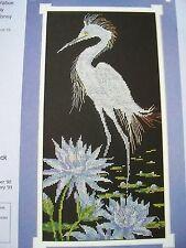 Snowy Egret Exotic Bird OOP Cross Stitch PATTERN (J)