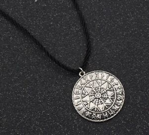 Viking Compass Necklace Symbol Pendant Blade Odin Outdoor Norse Jewelry Amulet