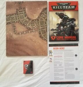 Brand New Kill Team Core Rules Warhammer 40K + Cards + Double Sided Gaming Board