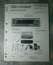 Service Manual for Kenwood KMD-70R/860R MD Receiver. 1998.