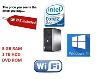 """Cheap Fast Dell Optiplex  Sff Desktop Core i5 Windows 10 + 19"""" DELL MONITOR"""